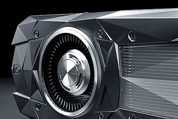 Zdjęcie produktowe ukazujące bardzo wydajny akcelerator graficzny