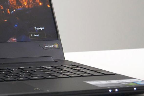 Fragment laptopu w formie zdjęcia do tekstu na temat laptopa dla graczy