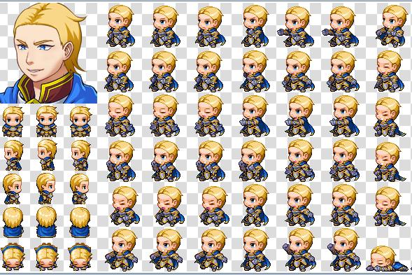 charset przykładowej postaci do np. RPG Makera, czy też jakiejś innej gry, w której może być użyty jako np. NPC