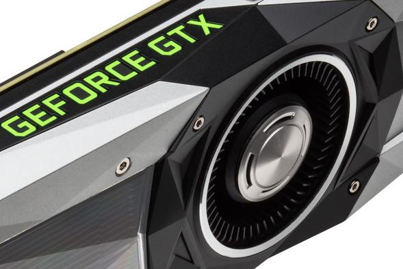 Przykładowe zdjęcie jeden z kart z serii GeForce GTX na potrzeby artykułu na temat kart graficznych